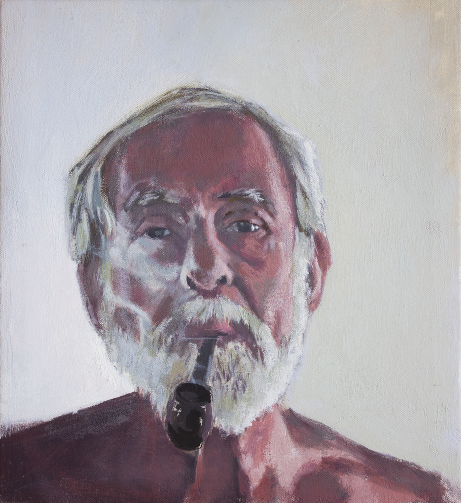Portrait of Beeb, oil on canvas, 15 x 13 inches.