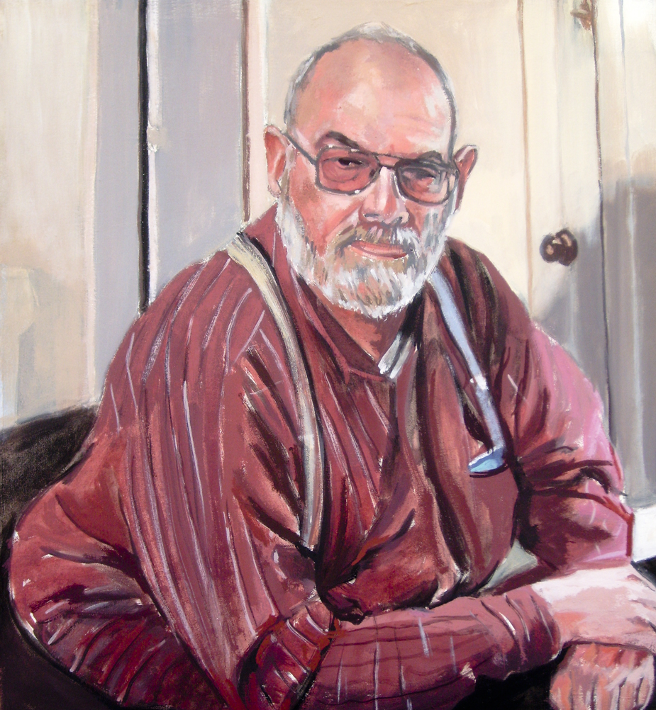 Portrait of Rick, oil on canvas, 24 x 22 inches.