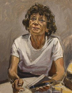Portrait, oil on canvas, 23 x 18 inches.