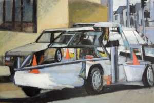 Car, oil on canvas by David Dunn, 24 x 36 inches, 2003