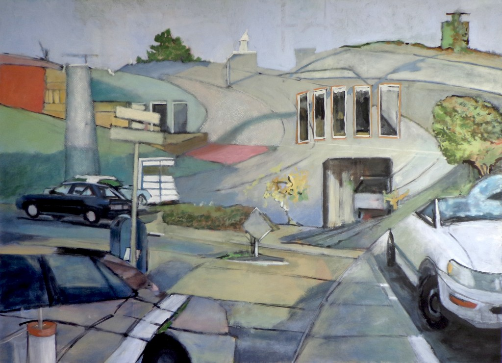 Murray @ College, 40 x 55 inches, oil on canvas, David Dunn, 2014