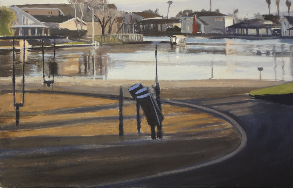 Canal and Park, Foster City, David Dunn, 2011, 18 x 27 inches.