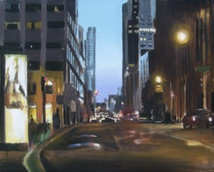 Downtown, San Francisco, David Dunn, 2012, oil on canvas, 24 x 30 inches
