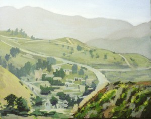 Painting by David Dunn, 2010, San Mateo County Coast, sold, oil on canvas